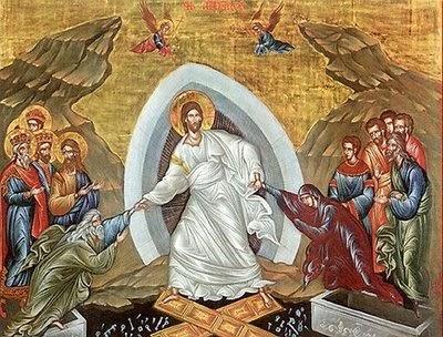η ορθόδοξη εικόνα της Αναστάσεως που ονομάζεται «Εις Άδου Κάθοδος»