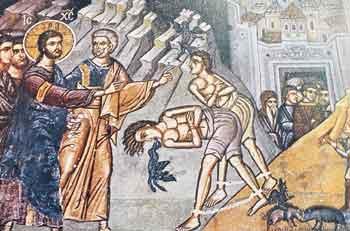 Αποτέλεσμα εικόνας για ο ιησουσ θεραπευει τον δαιμονισμενο
