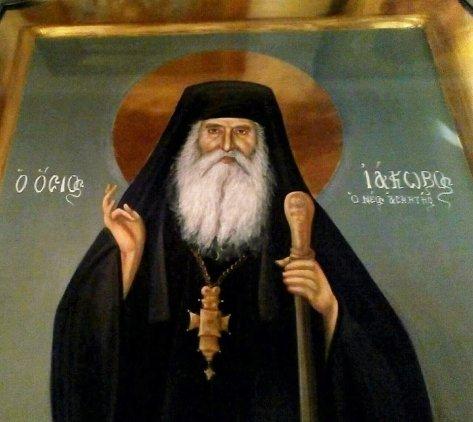 Αποτέλεσμα εικόνας για Όσιος Ιάκωβος (Τσαλίκης), ο Θεοφόρος, καθηγούμενος της Ιεράς Μονής Οσίου Δαυΐδ του εν Ευβοία